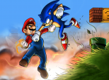 Captura Mario vs Sonic